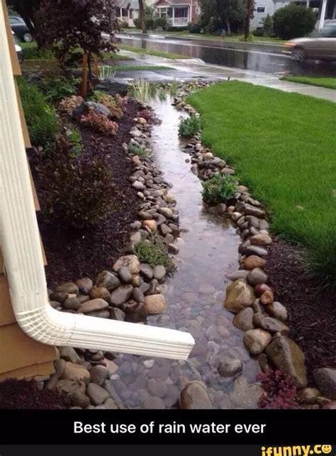 nice   rain water backyard backyard landscaping
