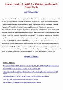 Harman Kardon Avr8000 Avr 8000 Service Manual By Milfordmueller