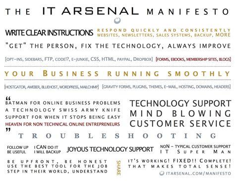 manifesto template the it arsenal manifesto it arsenal