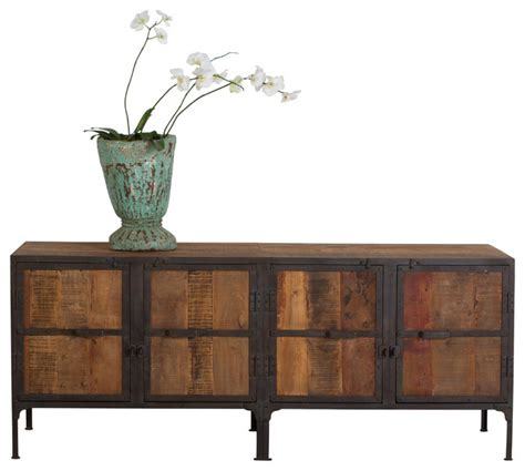 Metal Sideboard Buffet by Hyderabad Reclaimed Wood And Metal Buffet Industrial