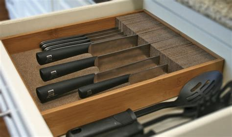 kitchen drawer knife organizer knifedock deluxe drawer knife block kitchen organizer 4718