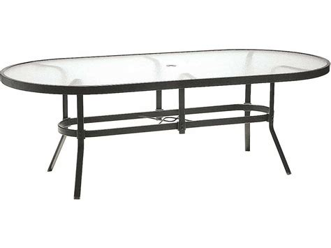 winston obscure glass aluminum 76 x 42 oval dining