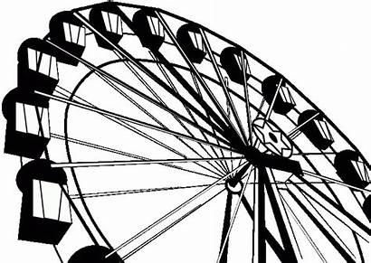 Ferris Wheel Drawn Transparent Pencil