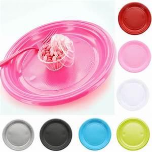 Lot De Vaisselle Pas Cher : assiette jetable plastique ronde diam tre 22cm x 20 pi ces ~ Teatrodelosmanantiales.com Idées de Décoration