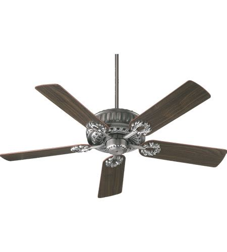 silver blade ceiling fan quorum 35525 92 empress 52 inch antique silver with