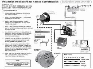 Ford 2n 8n 9n Tractor Alternator Conversion Kit 6 V To 12