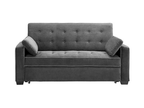 serta augustine sofa bed augustine loveseat bed queen size moon grey by serta