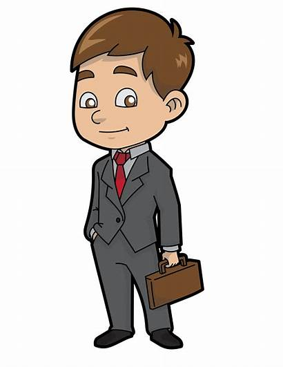 Clipart Cartoon Businessman Humble Empresario Dibujos Animados