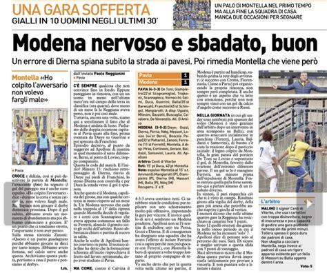 Il Punto Pavia by Modena Fc Resto Carlino Canarini Nervosi E Sbadati