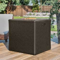 suncast cube 60 gallon deck storage box reviews wayfair