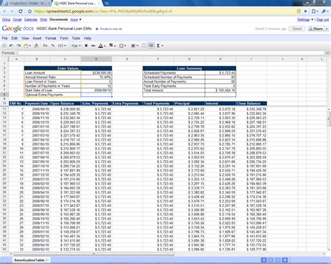 mortgage amortization table excel mortgage amortization calculator with extra payments excel