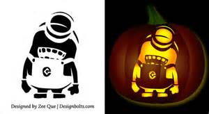 Purple Minion Pumpkin Carving Template by 5 Free Halloween Minion Pumpkin Carving Stencils Patterns
