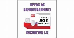 Offre De Remboursement : offre de remboursement odr sfr 50 sur enceintes lg ~ Carolinahurricanesstore.com Idées de Décoration