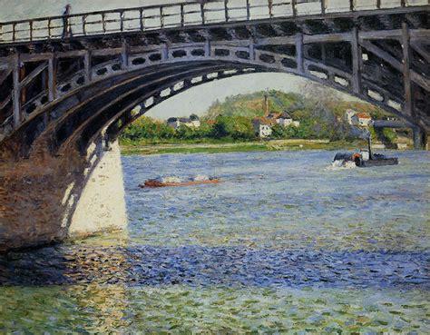 salle des ventes d argenteuil gustave caillebotte le pont d argenteuil et la seine 1885