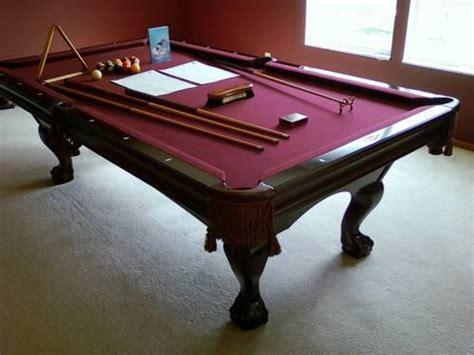 premium authentic brunswick bradford ii ft cherry pool table  sale  columbus ohio