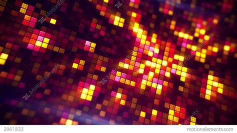 Glowing Pixels Abstract Loopable Background Stock
