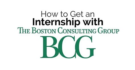Boston Consulting Group Indonesia Internship by How To Get An Internship With Boston Consulting Group
