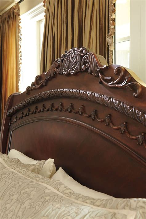 north shore cal king sleigh bed from ashley b553 78 76 73