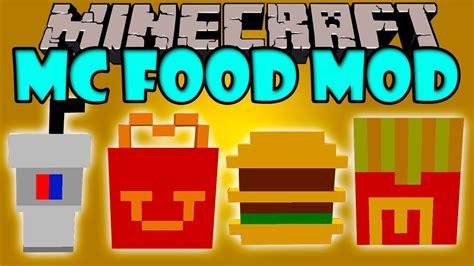 cuisine mod鑞e mc food mod comida rapida de mcdonald 39 s minecraft mod 1 8 review español