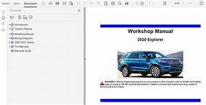 2020 Ford Explorer Repair Manual