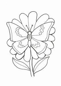 Dessin Facile Papillon : coloriage papillon fleur 2 sur ~ Melissatoandfro.com Idées de Décoration
