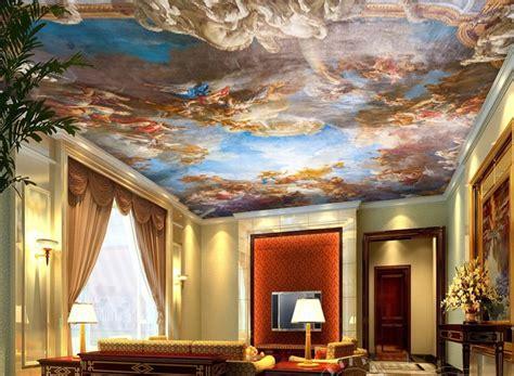 european mural sky ceiling wallpaper white cloud palace
