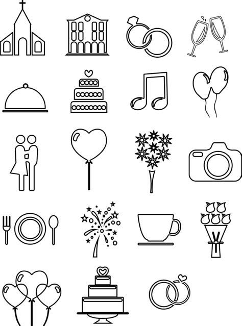 hochzeits icons und vorlagen fuer euren ablaufplan