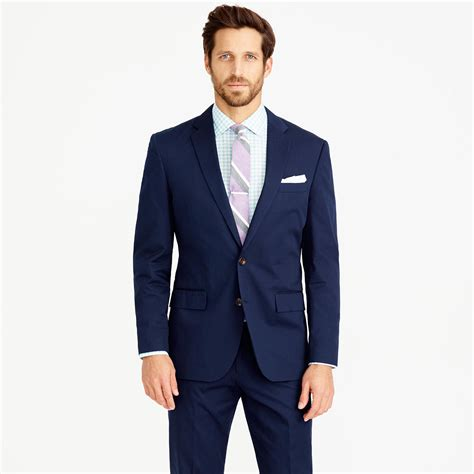 jcrew crosby suit jacket  italian chino  blue  men lyst