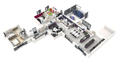 plan de chambre 3d maison solia