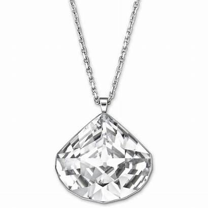 Pendant Swarovski Crystal Necklace Via Clear Teardrop