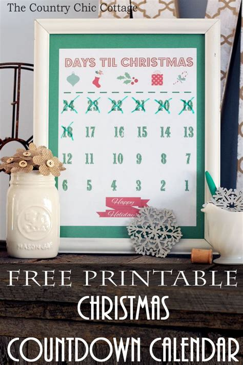 days till christmas template free printable christmas countdown calendar calendar