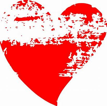 Brush Stroke Hearts Clipart Heart Grunge Vector