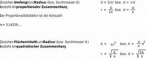 Durchmesser Aus Umfang Berechnen : zusammenhang zwischen umfang und fl che am kreis ~ Themetempest.com Abrechnung