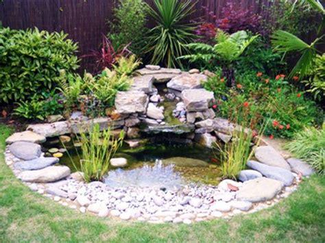 Gardens With Pebbles, Small Garden Pond Design Ideas