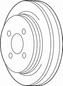 Lincoln Town Car Engine Water Pump Pulley  4 6 Liter