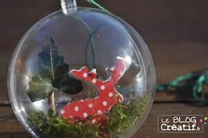 Boule De Noel A Fabriquer : fabriquer des boules de no l tuto vid o le blog cr ~ Nature-et-papiers.com Idées de Décoration
