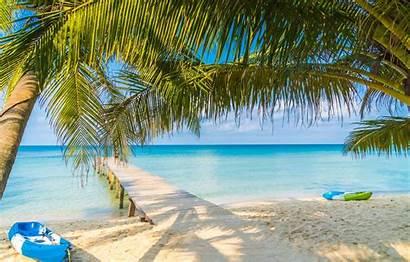 Summer Tropical Bridge Wooden Beach Sand Sea