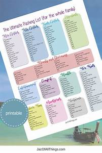 vacation packing list the ultimate packing checklist