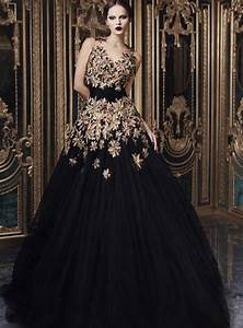 best wedding gowns in black weddingelation With black and gold wedding gown