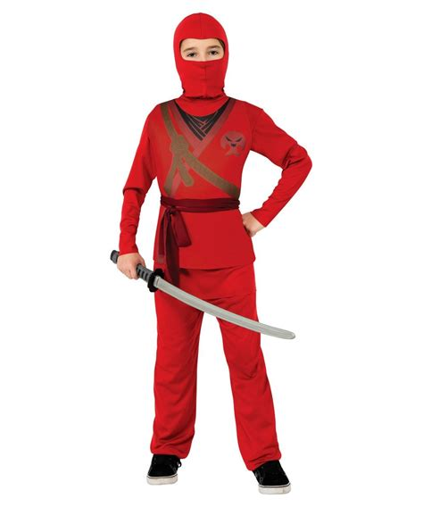 Ninja Kids Halloween Costume Red - Boys Ninja Costumes