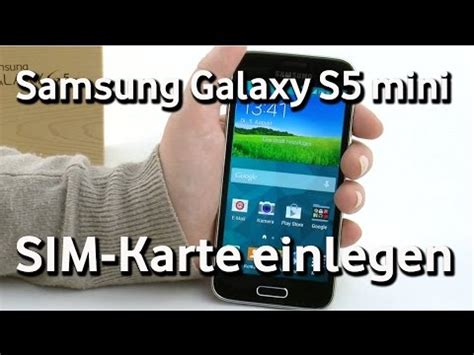 samsung galaxy  mini vodafone sim karte einlegen youtube