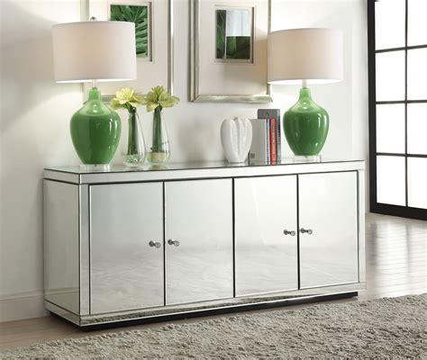 mirrored credenza sideboard mirrored sideboard or buffet unit ebay 4159
