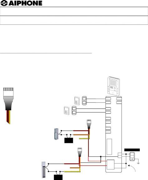 aiphone intercom wiring diagram free wiring diagram