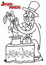 Magician Coloring Pages Designlooter sketch template