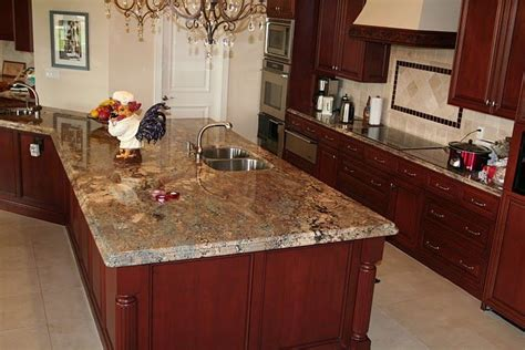 cherry cabinets with granite countertops crema bordeaux