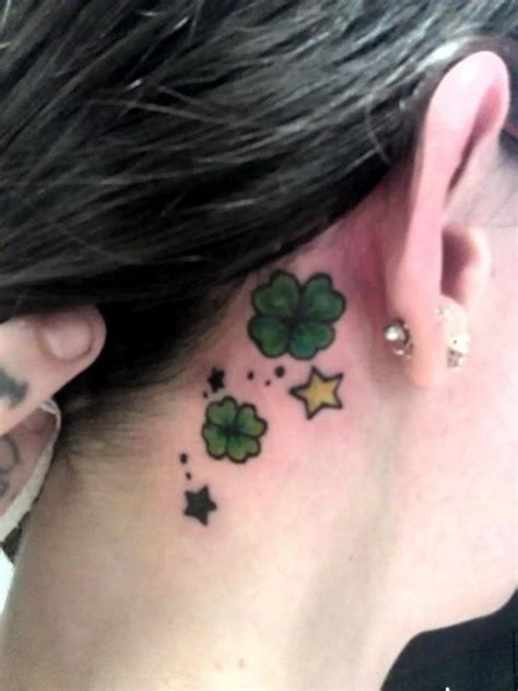 cute  leaf clover tattoos hative