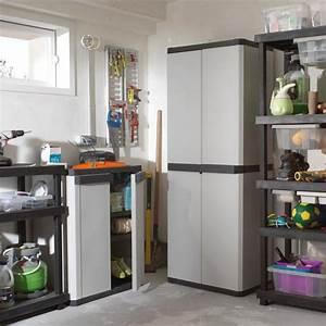 Armoire metallique garage us pro armoire mtallique for Placard de rangement garage