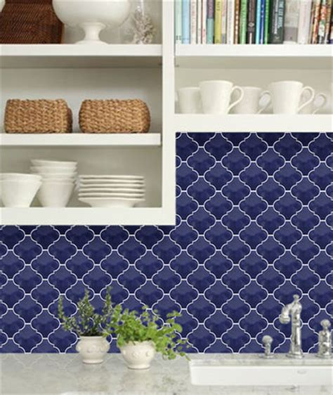 cobalt blue arabesque lantern tile