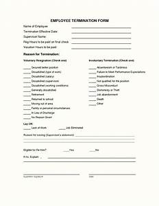employee termination form template template update234 With termination of employment form template