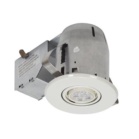 led recessed lighting kit globe electric 3 in white led ic swivel spotlight